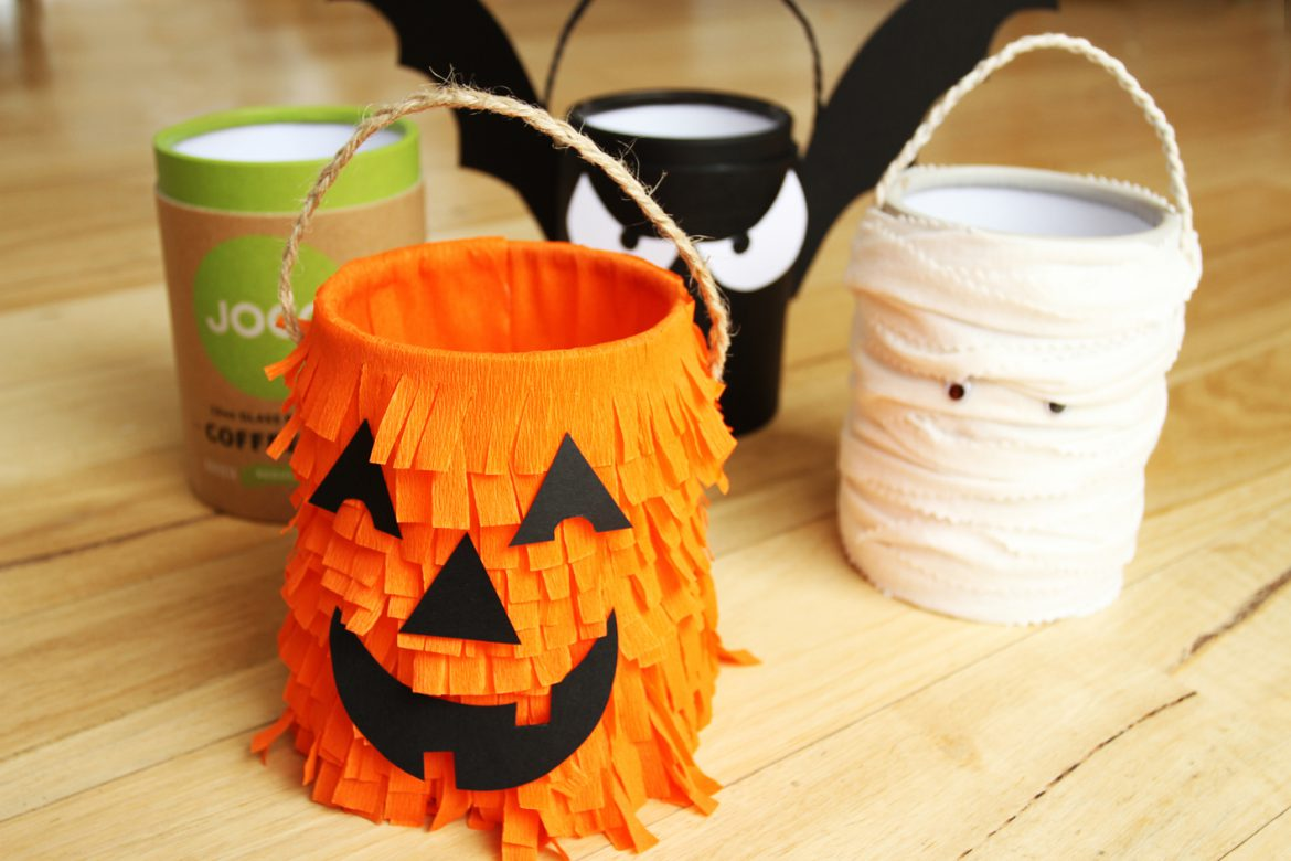 JOCO reusable glass cup repurpose canister for Halloween 2013