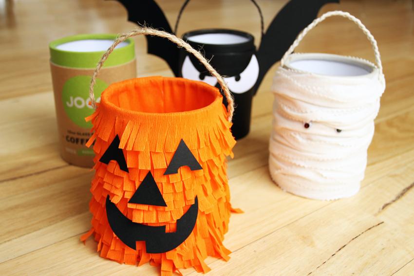 JOCO cups repurposed cannister Halloween