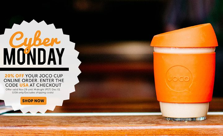 Cyber Monday USA, gift on with JOCO cups.