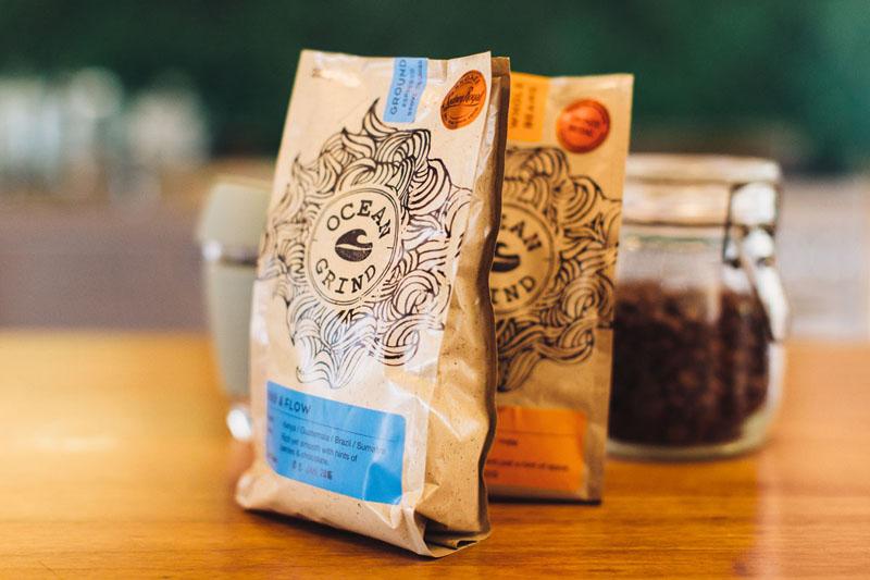 Ocean Grind Coffee Roasters JOCO glass reusable cups Roastery