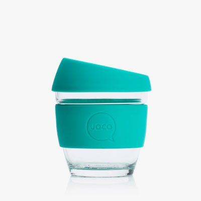 8oz glass coffee cup in mint colour