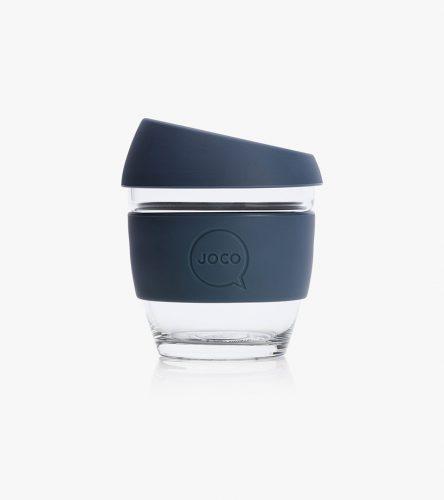 Navy JOCO Reusable Glass Coffee Cup