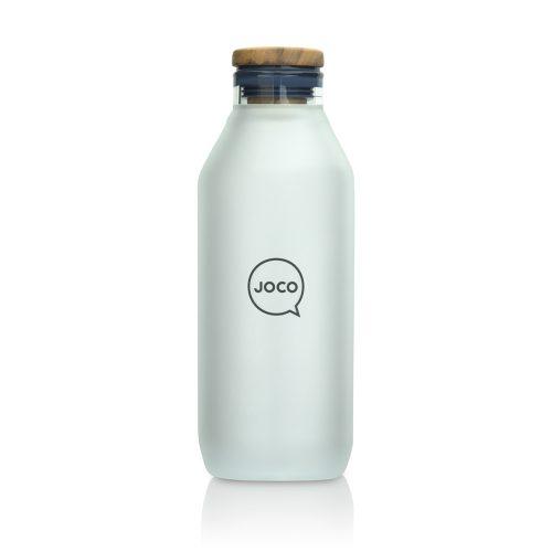 Silver 600ml 20oz JOCO Reusable Glass Water Bottle