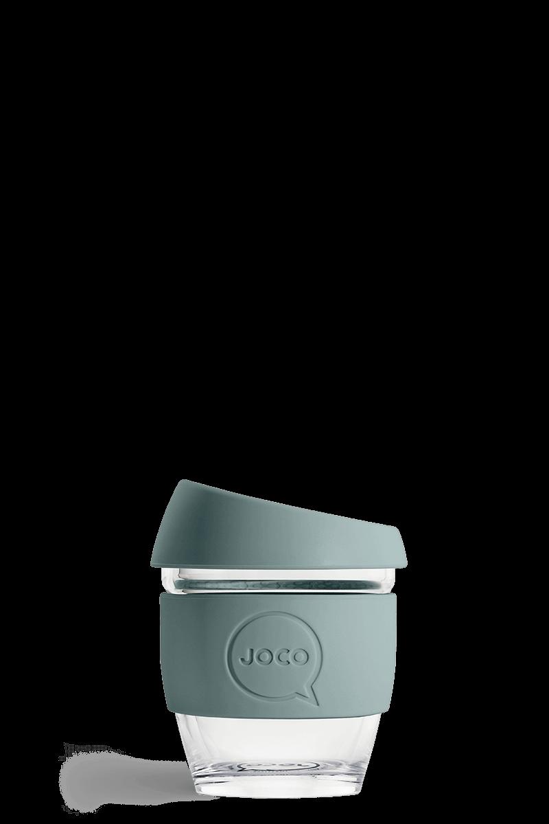 JOCO Reusable Glass Coffee Cup Mood Indigo 118ml